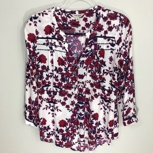Lucky Brand Tops - Lucky Brand Floral Flowy Button Down Top S
